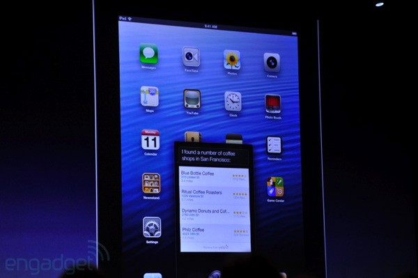 Siri comes to the new iPad