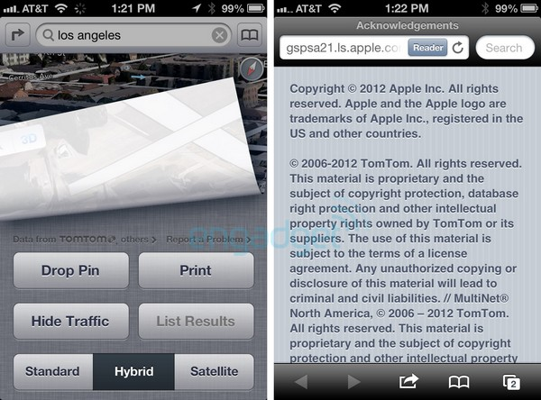 iOS 6 maps are powered by TomTom