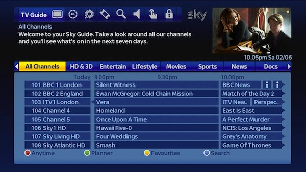Sky rolls out a new HD guide starting today, keeps live, DVR and VOD TV level video