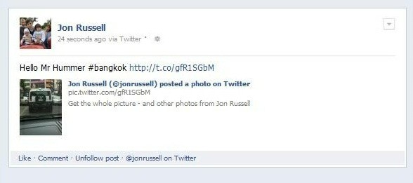 Twitter posttoFacebook integration adds photos, tags and links, makes wild nights more regrettable