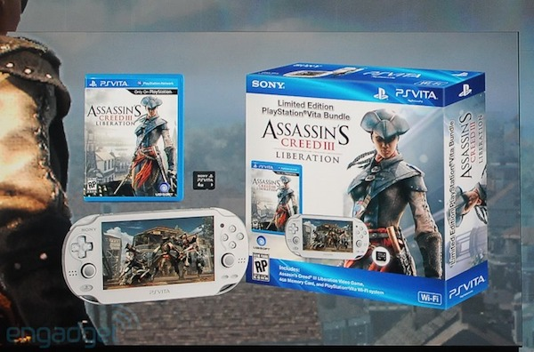 Sony announces white PS Vita bundle with Assassin's Creed III