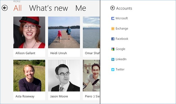 Microsoft details the People app, its cloudconnected address book for Windows 8