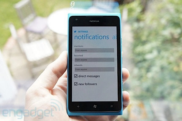 Twitter for Windows Phone gets pushy, adds Notifications support