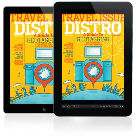 Distro Issue 50 the travel edition packs photography, geotagging and offline navigation