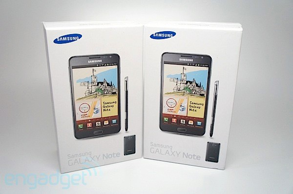Engadget Giveaway win one of two Samsung Galaxy Notes, courtesy of 1SaleADay!