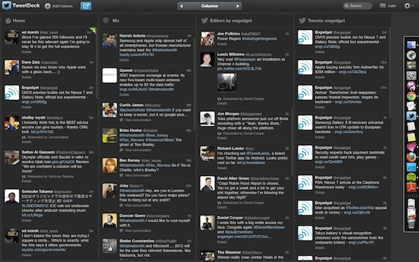 TweetDeck updates webbased client with sleeker profiles, enhanced mentions and hashtags