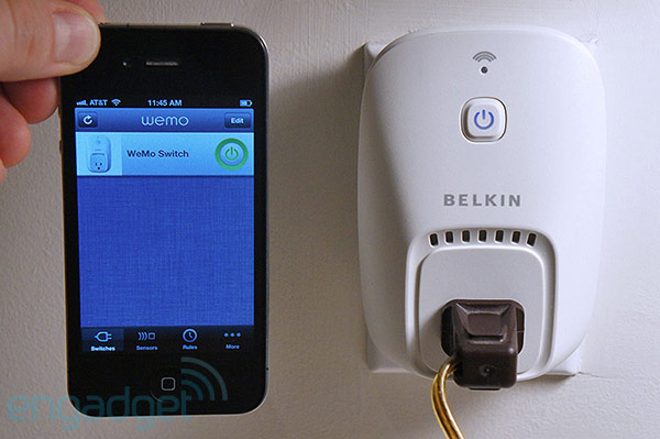Belkin WeMo Switch and Motion home automation system for iOS handson video