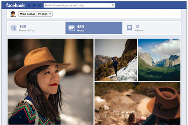 Facebook expanded photos