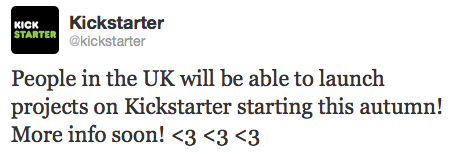 Kickstarter sends some love to Europe, will support UK projects beginning this fall