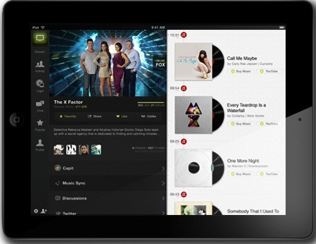 Yahoo's IntoNow TV companion app for iPad and iPhone adds screen grab, music recognition and chat features