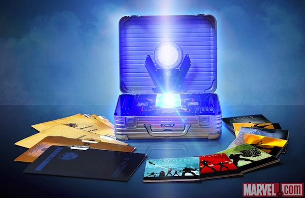 Marvel Cinematic Universe 10disc Bluray box unveiled, Tesseract and all