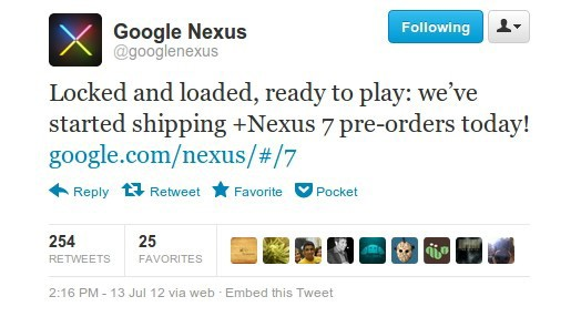 Google starts shipping Nexus 7 preorders, writes a rhyme to celebrate