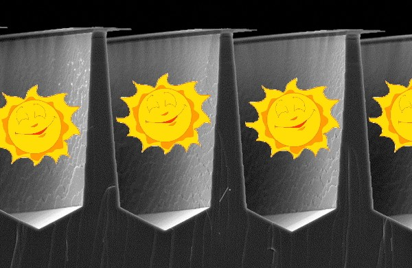 3D, lighttrapping solar cells successfully fabricated by Solar3D