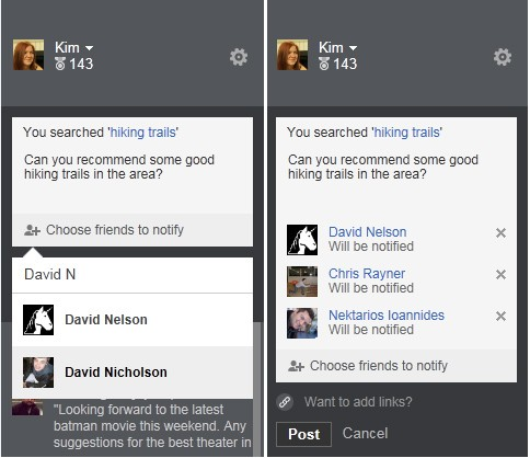 Bing search lets you tag Facebook friends, forces them to Google 'Bing'