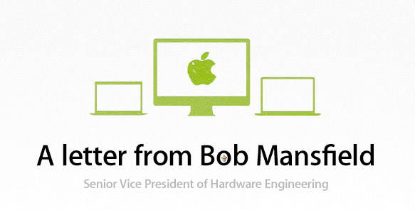 Bob Mansfield 'all eligible Apple products are back on EPEAT'