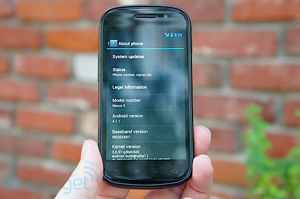 Android 4.1 Jelly Bean on Google Nexus S