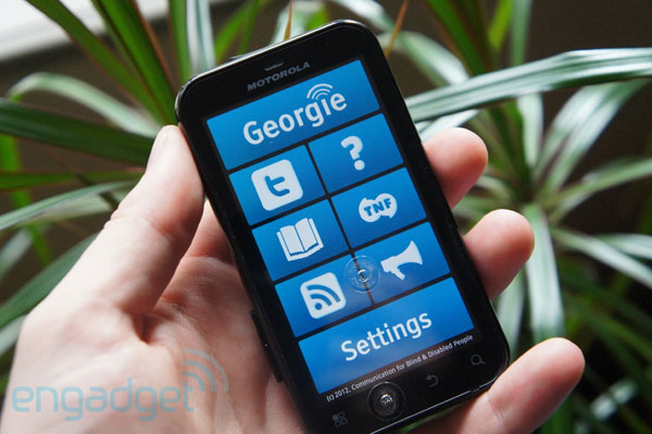 Georgie app offers up Android features and voiceguided menus for the blind video
