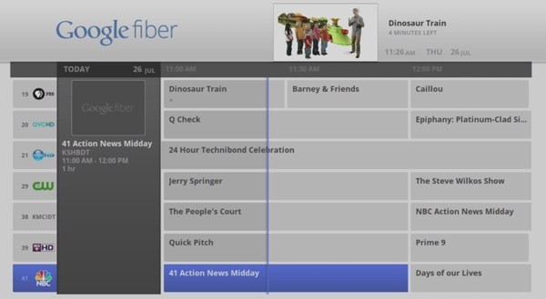google fiber tv Google Fiber Launches with Google Fiber TV
