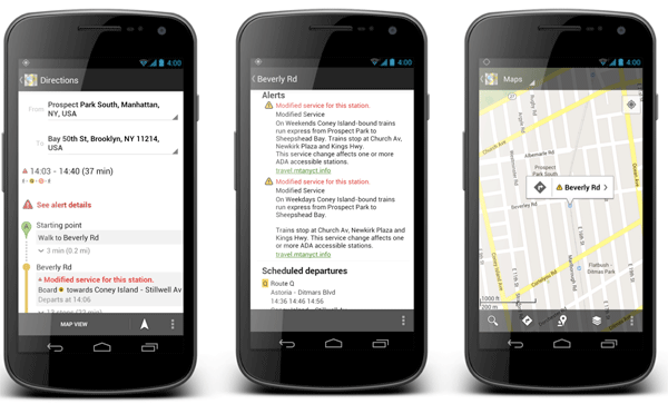 Google brings NYC subway alerts to maps, makes public transit a little more bearable 
