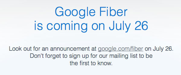 Google fiber is coming on July 26th, Kansas readies to open the digital flood gates