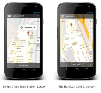 Google Indoor Maps comes to the UK, helps commuter meet pasty in less time