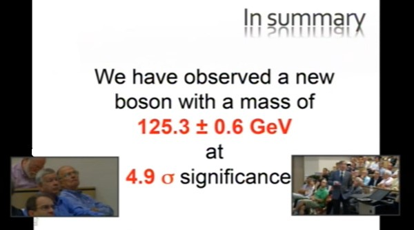CERN confirms existence of new particle consistent with Higgs boson, rewrites the standard model