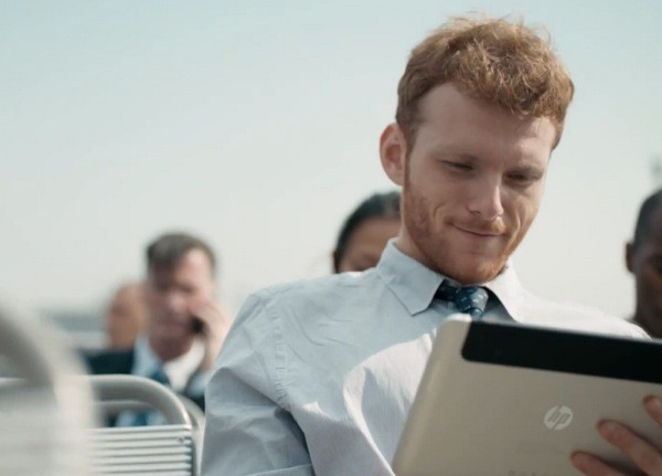 Is HP showing the Slate 8 in its latest commercial video