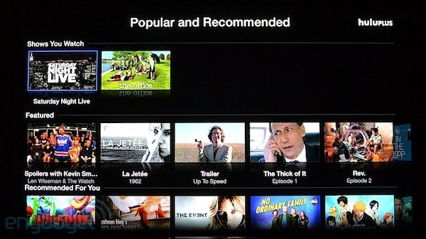 Hulu Plus app live on Apple TV