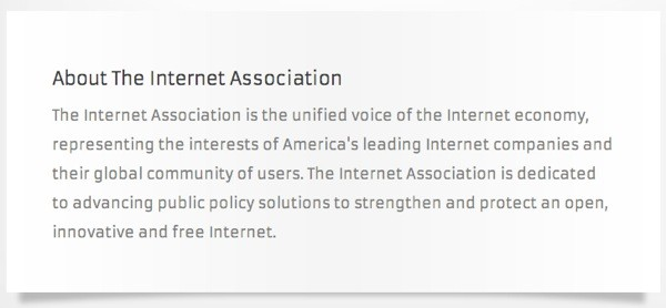 Internet Association to lobby Washington, may tout Amazon, Facebook, Google among its ranks