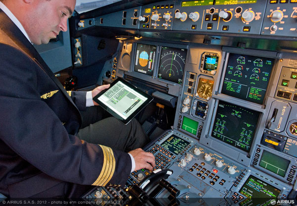 Airbus Electronic Flight Bag apps for iPad savvy pilots save time and paper
