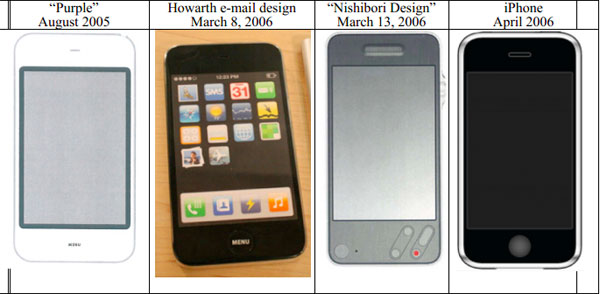 Apple reveals 'Purple' phone prototype in court filing, predates Sonyesque design