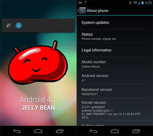 Android 41 Jelly Bean now hitting all Galaxy Nexus HSPA devices