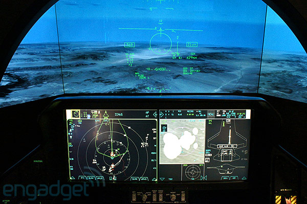 Lockheed Martin F35 Lightning II stealth fighter cockpit demonstrator handson video