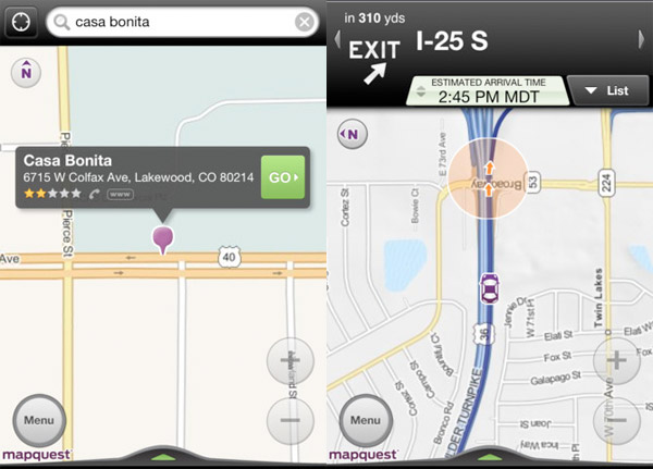 MapQuest picks TomTom Maps to power iPhone and Android turnbyturn navigation apps