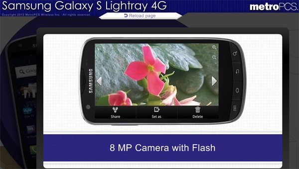 Samsung Galaxy S Lightray 4G hides out in the open, headed to MetroPCS