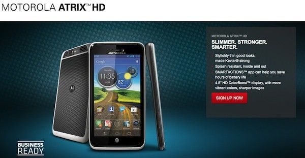 Motorola Atrix HD revealed with 45inch Colorboost HD display, ICS and Droid RAZR looks