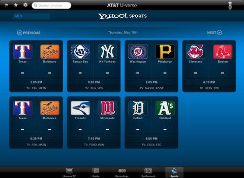 AT&T UVerse iPad app adds more streaming video, new sports and sharing features