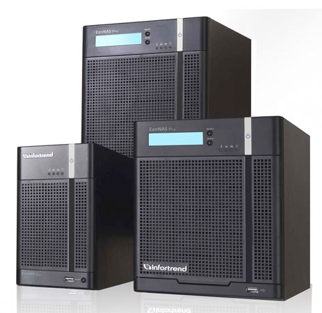 Infortrend NAS server family ties up your network and storage needs, brings the cloud to suburbs
