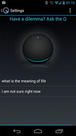 Nexus Q app throws in voicepowered Magic 8 Ball mode