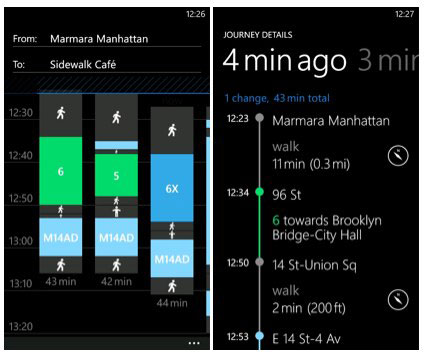 Nokia Transport goes official departure times for over 100 cities video