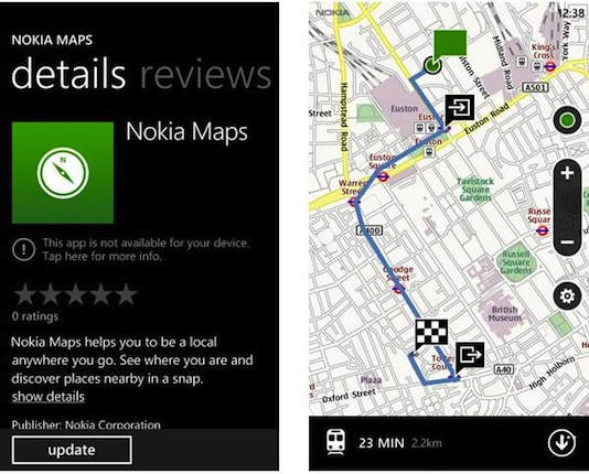 Nokia Maps for Windows Phone updated with route planner and Groupon integration