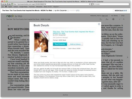 Barnes & Noble brings out Nook for Web, comes full circle with ereading
