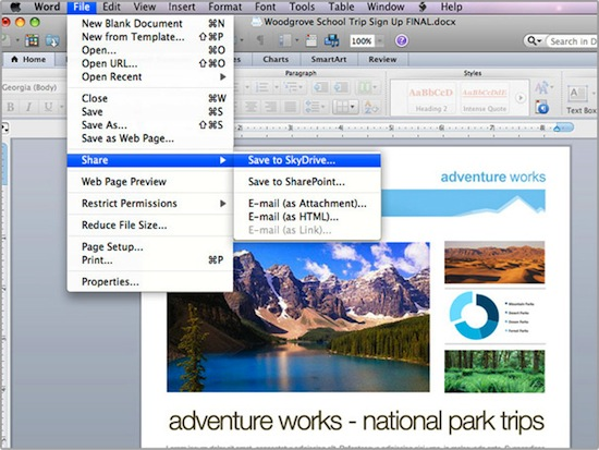 Microsoft's reportedly working on Office 2011 for Mac SkyDrive update