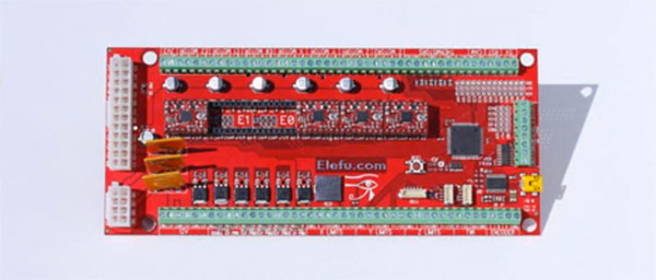 Controller board for 3D printers emphasizes expandability, gives nod to Sun god