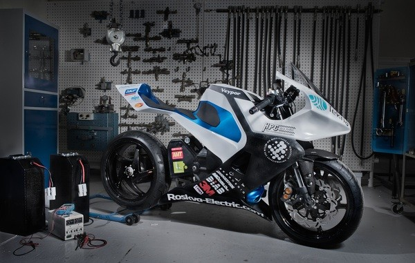 Roskva electric motorcycle revealed in Norway carbon fiber chassis 94hp motor 112MPH top speed