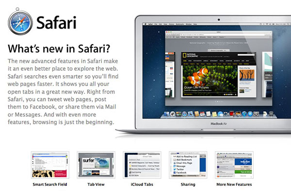 Apple unveils Safari 6 goes well with your new Mountain Lion