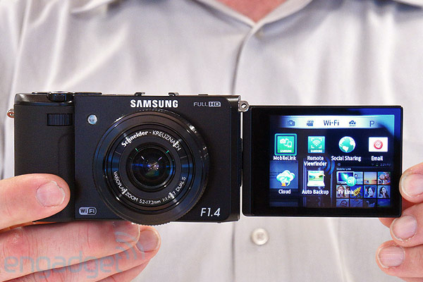 Samsung EX2F pointandshoot with f14 lens handson video