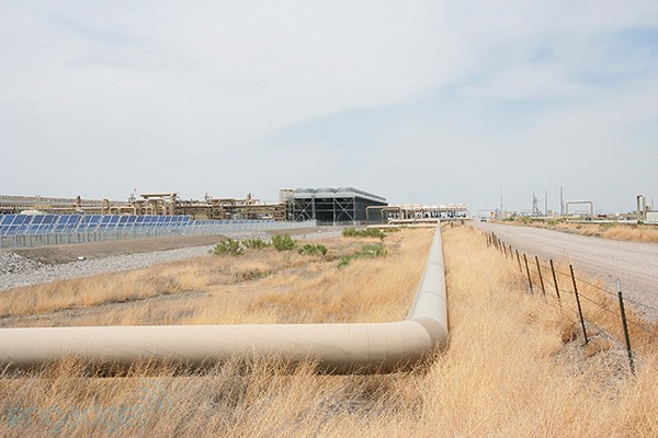 DNP First solargeo plant blooms in Nevada's high desert