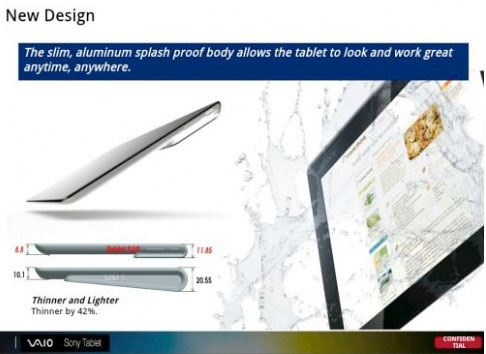 Sony Xperia Tablet leaked from internal slides Surfacestyle keyboard and tentative $450 price tag