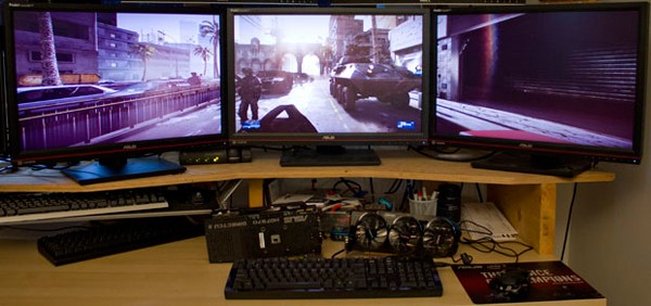 Triple-screen gaming setups put under the microscope, deemed an attainable luxury